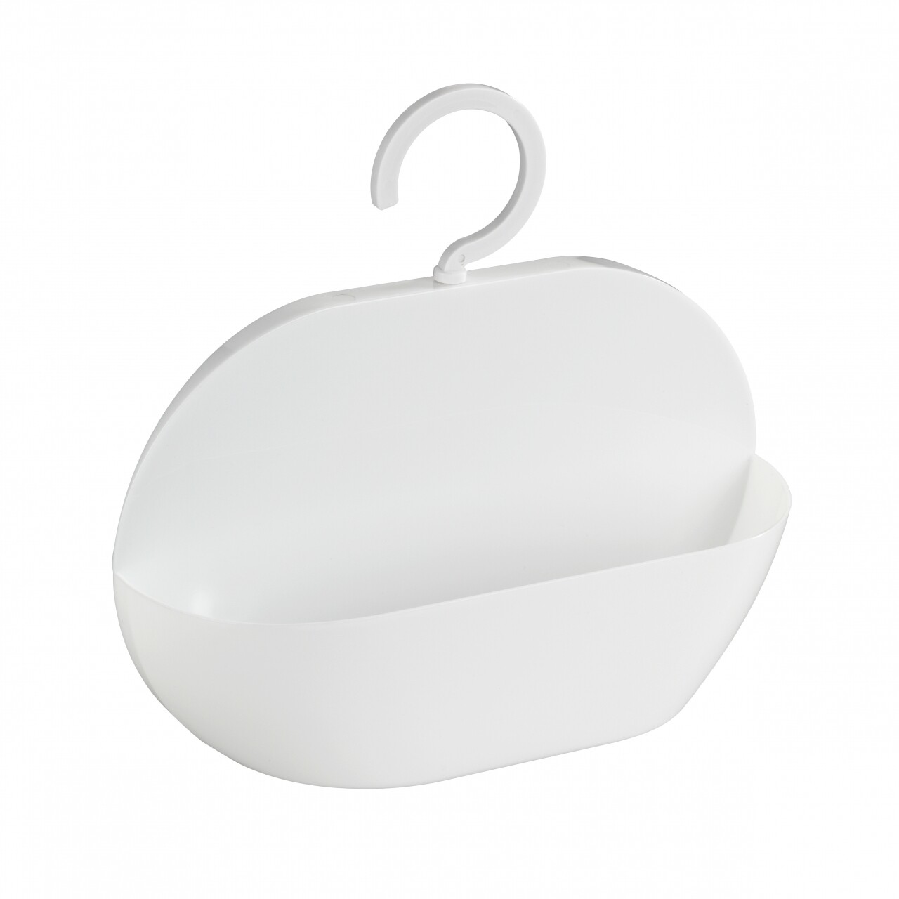 Suport accesorii pentru dus Cocktail, Wenko, 26 x 9 cm, polistiren/ABS, alb