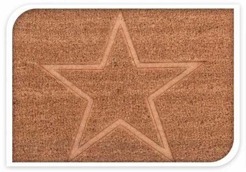 Covoras de intrare din fibra de cocos, 60x40 cm Star