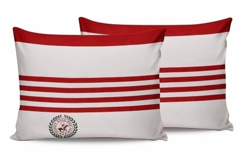 Set 2 fete de perna 50x70, 100% bumbac, Beverly Hills Polo Club, Red/White/Green